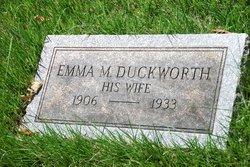 Emma M <i>Duckworth</i> Backhus