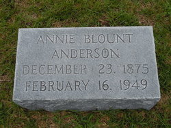 Annie <i>Blount</i> Anderson