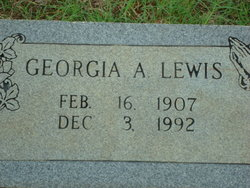 Georgia A Lewis