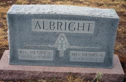 Nancy Elizabeth Nannie <i>Wylie</i> Albright