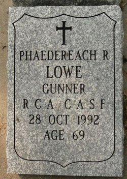 Phaedereach Robertson Pat Lowe