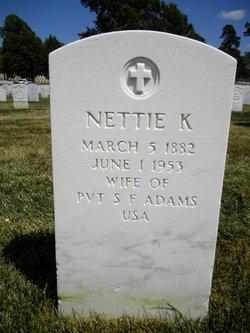 Nettie K Adams