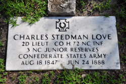 Lieut Charles Stedman Love