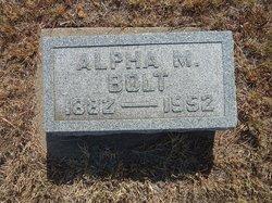 Alfred M Alpha Bolt