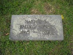 Nancy Emeline Nannie <i>Spence</i> Baumgardner