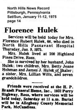 Florence <i>Rubert</i> Hulek