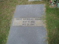 Steve Nickolas Brown
