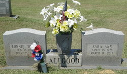 Sara Ann <i>Butts</i> Allgood