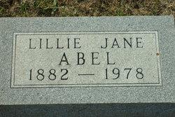 Lillian Jane Lillie <i>Scarbrough</i> Abel