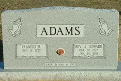 Rev Joseph Edward Ed Adams