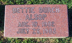 Bettie <i>Burch</i> Alsop