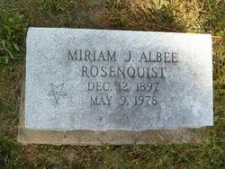 Miriam J <i>Albee</i> Rosenquist