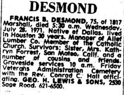 Francis Bertrand Desmond