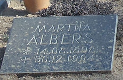Martha M B <i>Klahn</i> Albers