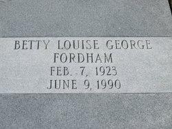 Betty Louise <i>George</i> Fordham