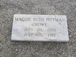 Maggie Ruth <i>Pittman</i> Crowe