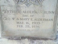 Gertrude Gertie <i>Alderman</i> Bunn