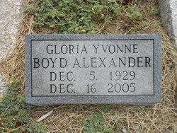 Gloria Yvonne <i>Boyd</i> Alexander