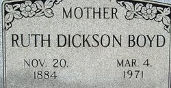 Ruth <i>Dickson</i> Boyd