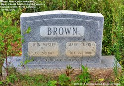 Mary <i>Currie</i> Brown