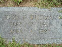 Josie F Wiedman