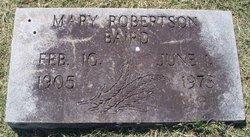 Mary <i>Robertson</i> Baird