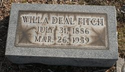Willa A. <i>Deal</i> Fitch