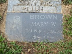 Mary Evelyn <i>Williams</i> Brown
