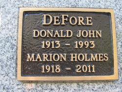 Marion <i>Holmes</i> DeFore