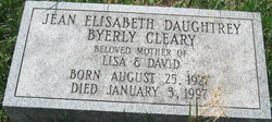 Jean Elisabeth <i>Daughtrey</i> Cleary