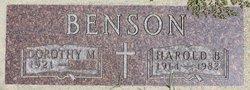 Harold B Benson