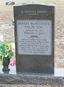 Bertha Marguerite <i>(Fields)</i> Teel