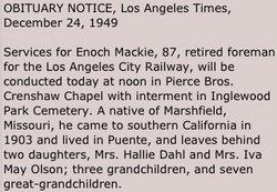 Enoch Nathaniel Mackie