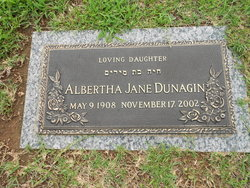 Albertha Jane Dunagin