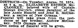 Elizabeth Esther <i>McCloskey</i> Dietrich