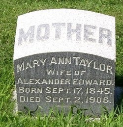 Mary Ann <i>Taylor</i> Edward