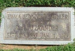Emma Jeannette <i>Miller</i> Alexander