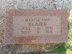 Myrtle Annie <i>Nix</i> Beaird