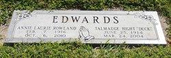 Annie Laurie <i>Rowland</i> Edwards