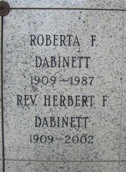 Roberta Evelyn <i>Franklin</i> Dabinett