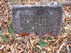 Mary Jane Mamie <i>Corbin</i> Wheeler