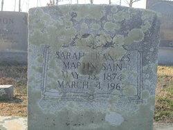 Sarah Frances Fannie <i>Martin</i> Sain