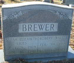 Sarah Elizabeth Bettie <i>Liles</i> Brewer