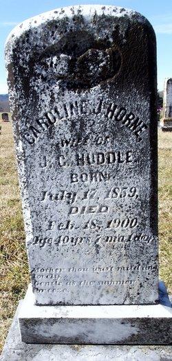 Caroline Jane Jennie <i>Horne</i> Huddle