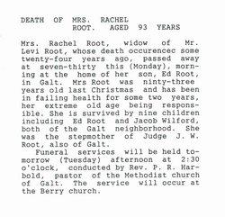 Rachel <i>Coen</i> Root
