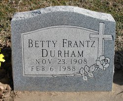Betty <i>Frantz</i> Durham