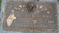 Alice Faye <i>Bryant</i> Romine