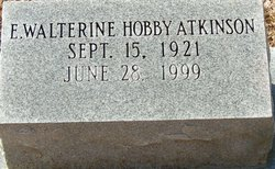 E. Walterine <i>Hobby</i> Atkinson