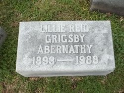 Lillie Reid <i>Grigsby</i> Abernathy