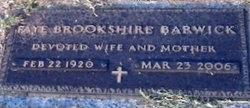 Faye <i>Brookshire</i> Barwick